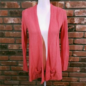 Anthro Angel Of The North Coral Open Cardigan
